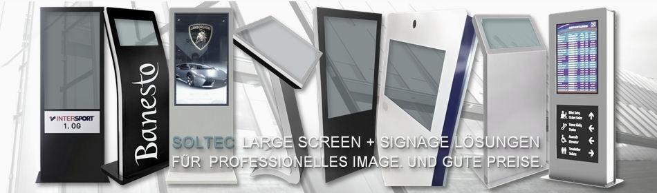 SOLTEC Digital Signage Display-Stelen, Kiosk-, Info-Displays