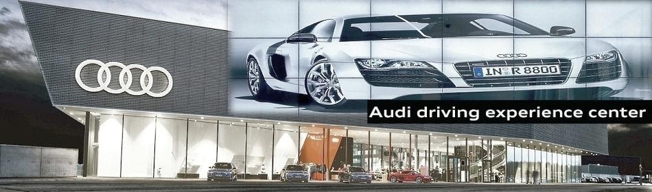 PLANAR Clarity Matrix Videowand - 3D Powerwall Audi Driving Experience Center